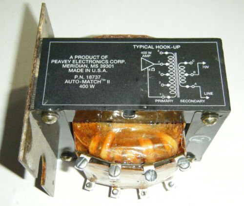PEAVEY 705-18737 AUTO-MATCH II AMPLIFIER TRANSFORMER 400 Watt USA NEW OLD STOCK