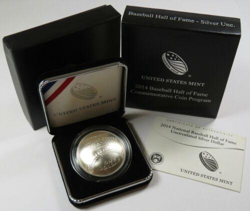 2014-P National Baseball Hall of Fame US Silver Dollar Coin w/ Box & COA #25249N