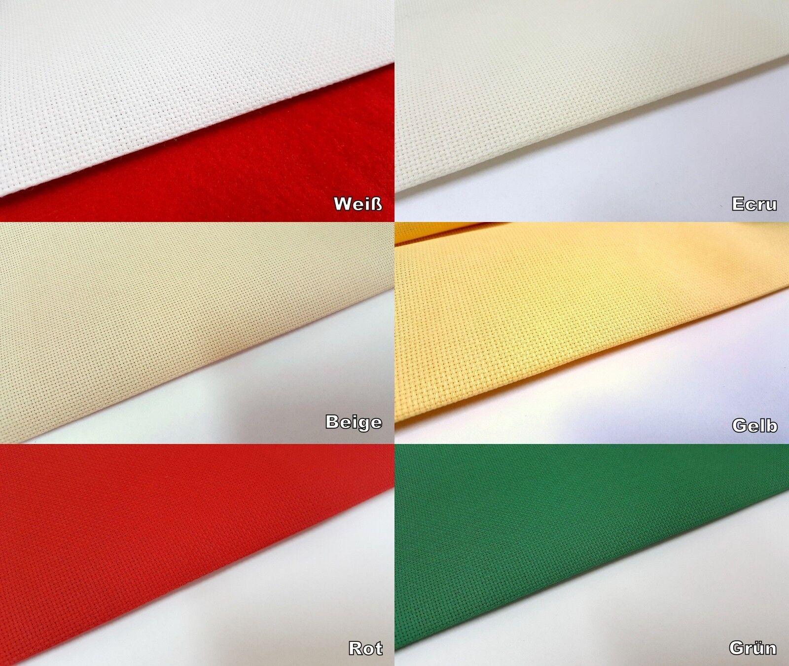 Aida Stickstoff 7,0 Stiche/cm 160 cm breit Meterware 19,75 €/m
