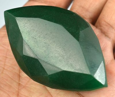 HUGE 64x35mm (260cts) MARQUISE-FACET CERTIFIED NATURAL (EGL) BRAZILIAN EMERALD