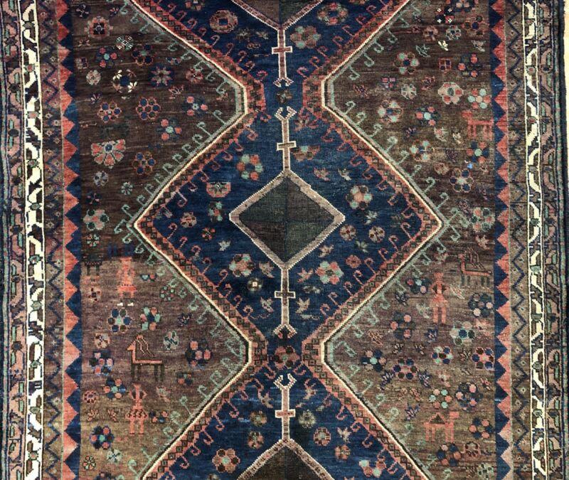 Tremendous Tribal - 1900s Antique Kurdish Rug - Oriental Carpet - 4.8 X 7 Ft.