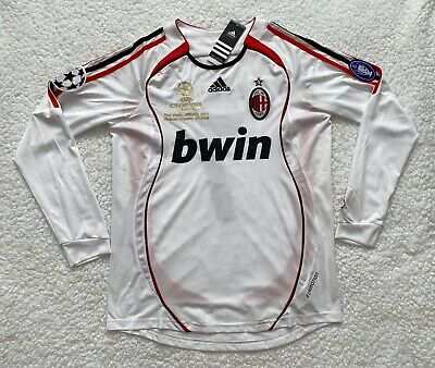 Andriy Shevchenko AC Milan White Long Sleeve Retro Vintage Soccer Jersey - M