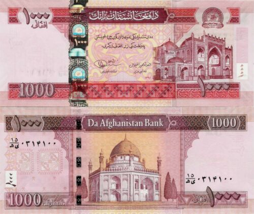 Afghanistan 2012 - 1000 Afghanis - Pick 77c UNC