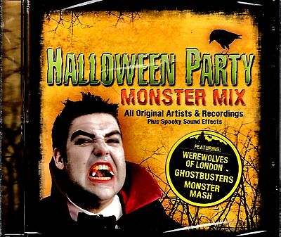 NEW CD // HALLOWEEN PARTY - MONSTER MIX - 17 TRACKS - MONSTER MASH + GHOSTBUSTER - Halloween Mix Monster Mash