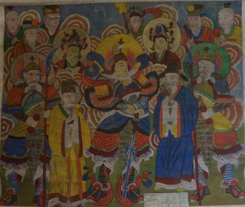Museum Quality Extra Large Korean Joseon Dynasty BulHwa Buddha Scroll on Fabric