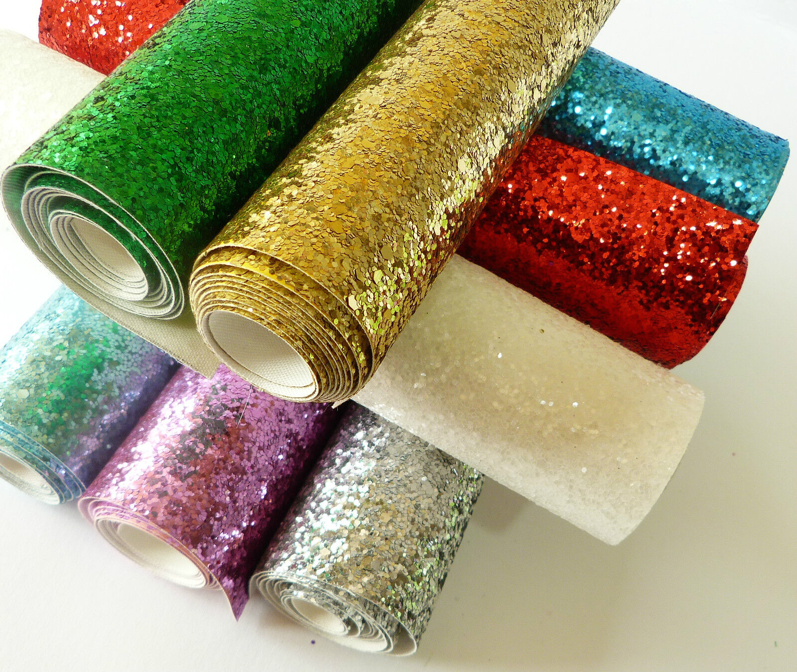 Chunky Glitter Fabric Mini Roll 25cm X 100cm High