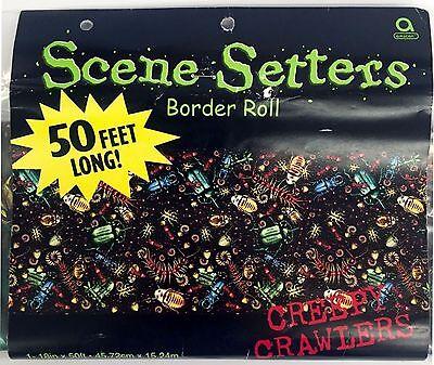 Scene Setter Creepy Crawler Bug Room Border Roll 50ft x 18in Decor Halloween 2-B](Halloween B Roll)
