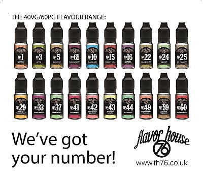 Flavour House 76 E Liquid Vape Juice 6mg 12mg 18mg Nicotine CHEAP High Quality
