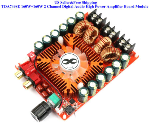 US TDA7498E 160W+160W 2 Channel Digital Audio High Power Amplifier Board Module