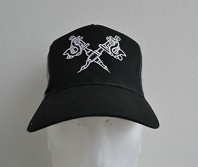 Tattoo Guns,Trucker Cap,Black & Grey,Biker,Tätowiermaschinen,Mütze,Tattoo