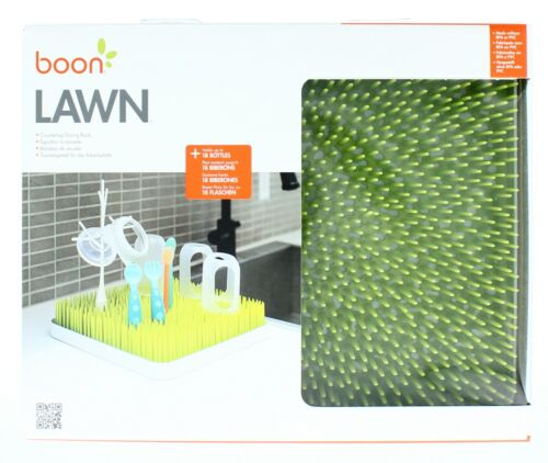 Boon Lawn Countertop Drying Rack for Baby Bottles Feeding Accessories, Green