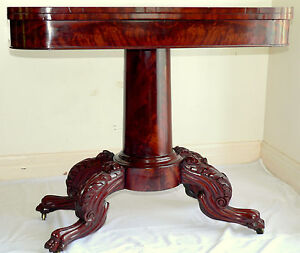 c1830-carved-Federal-card-table-flame-mahogany-band-inlay-36-w