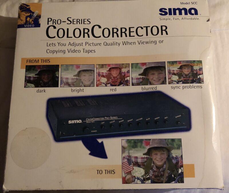 Sima Video Color Corrector Pro Series Model SCC w/ Power Cord Box & Manual