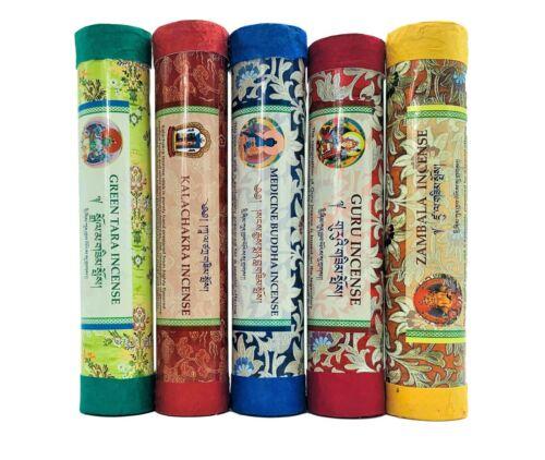 Tibetan Incense Set of 5 Popular All Natural Tibetan Healing Meditation Incense.
