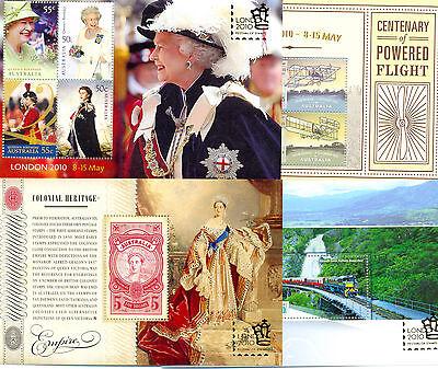 Australia 2010 set of 4 sheets mnh -London Overprints set-MS3395-3398
