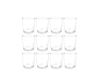 12er Teelichthalter Glas weiß klar Teelichter Teelichtgläser Kerzenständer Kerze