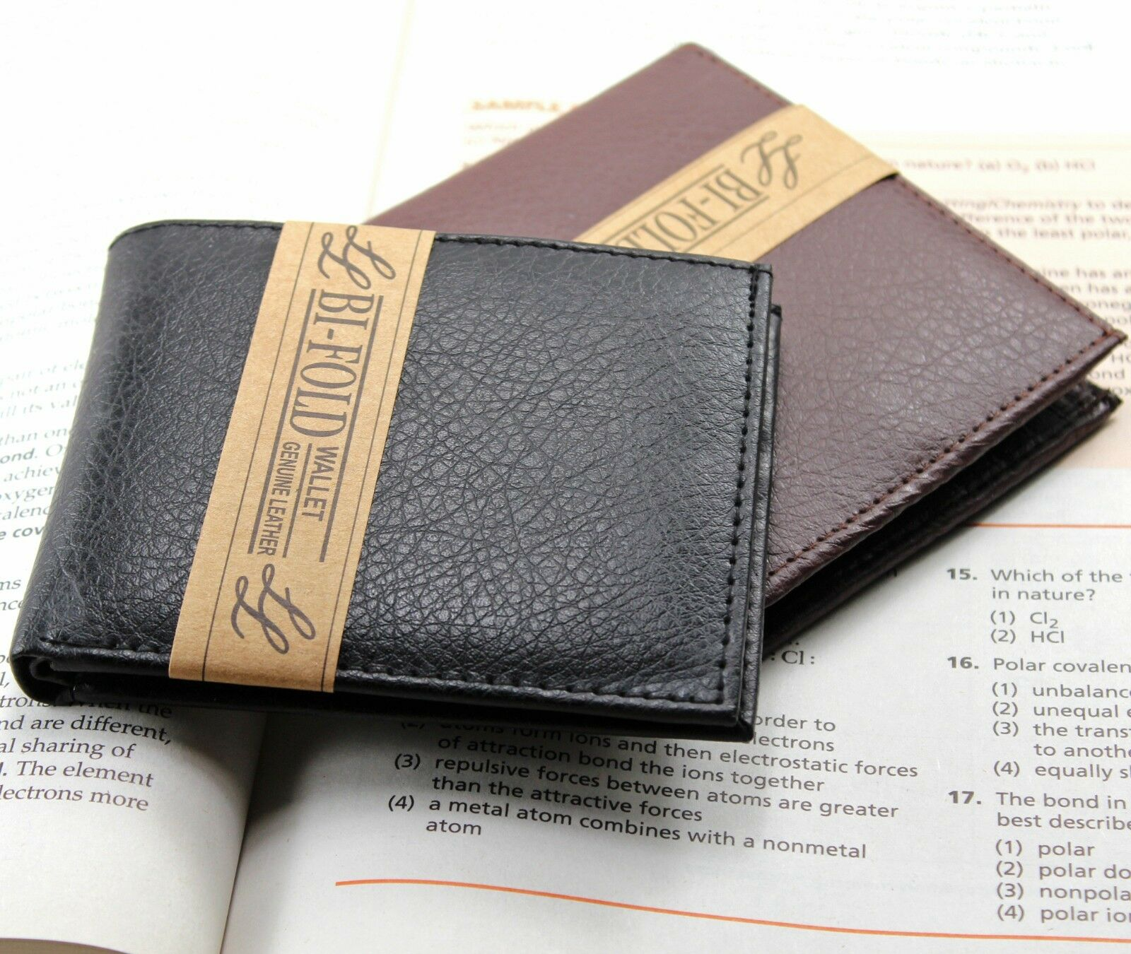 New Mens Slim Thin Bifold Genuine Leather Wallet ID Credit C