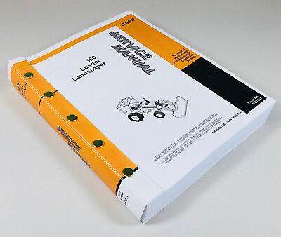 Case 380 380ll Loader Landscaper Tractor Backhoe Service Repair Manual Shop