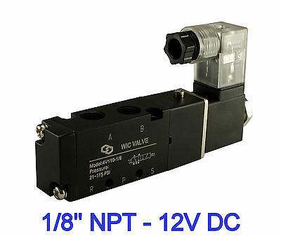 Pneumatic 4 Way Electric Directional Control Air Solenoid Valve 12v Dc 18 Inch