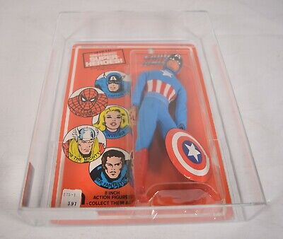Captain America Action Figure Mego WGSH Worlds Greatest Super Heroes 1977 AFA 85
