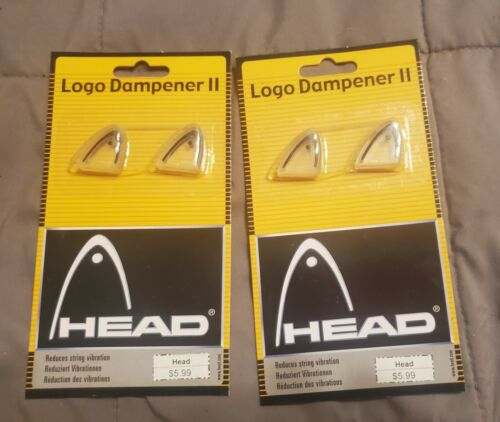 Head Logo Dampener packages Reduces string vibration get 2 in each package.