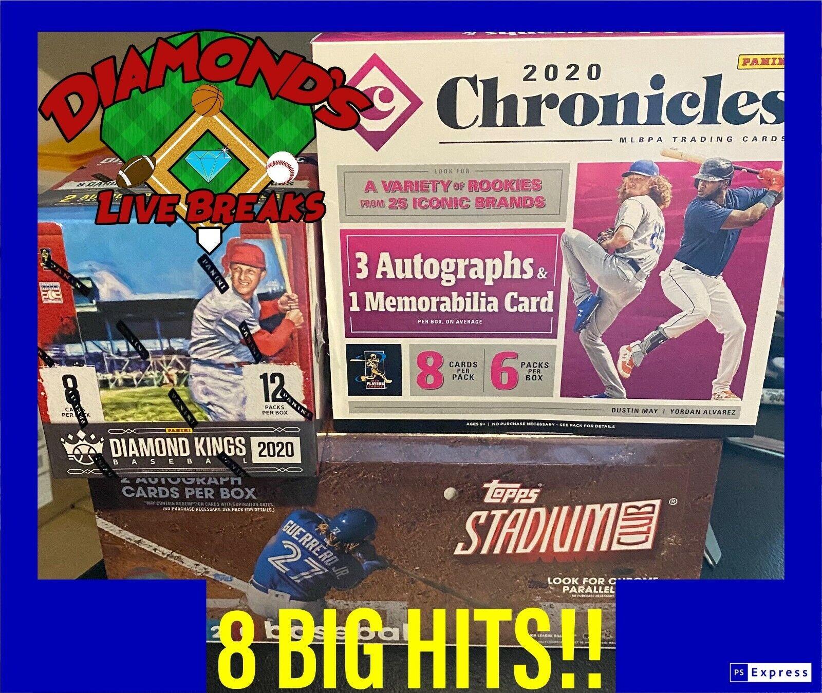 DLB ATLANTA BRAVES 3 Box BB Mixer Break 2020 Chronicles/DK/Stadium Club-8 Hits  - $16.51