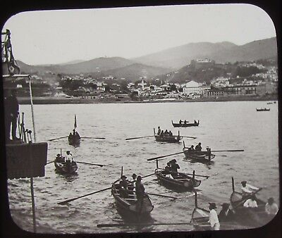 GWW Glass Magic Lantern Slide FUNCHAL MADEIRA C1890 PHOTO CENTRAL AFRICA