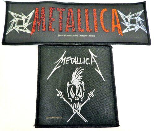 Vintage 1993 METALLICA Scary Guy Patch Heavy Metal Thrash Rock 1996 Ninja Banner