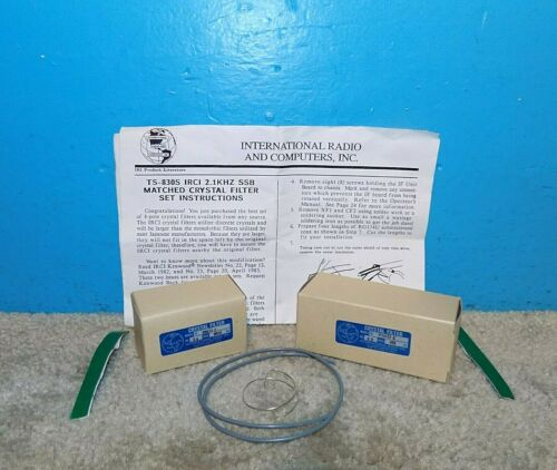 Inrad International Radio SSB Matched Crystal Filter Set TS-130S w/ Instructions