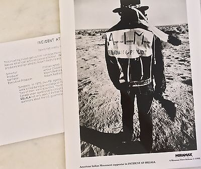 INCIDENT AT OGALA (1992) Press Kit Photo, Info Sheet; Native American; Sioux