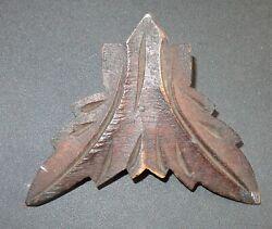 VTG Antique Carved Wood Decorative Ornate  CUCKOO CLOCK? Leaf Trim