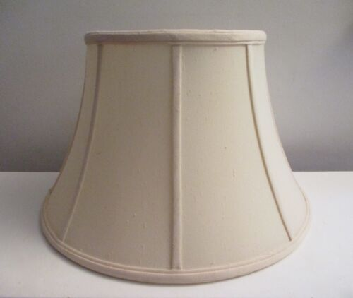 Vintage Ivory STIFFEL Lampshades 8 Panel Cotton Linen Lined Shade