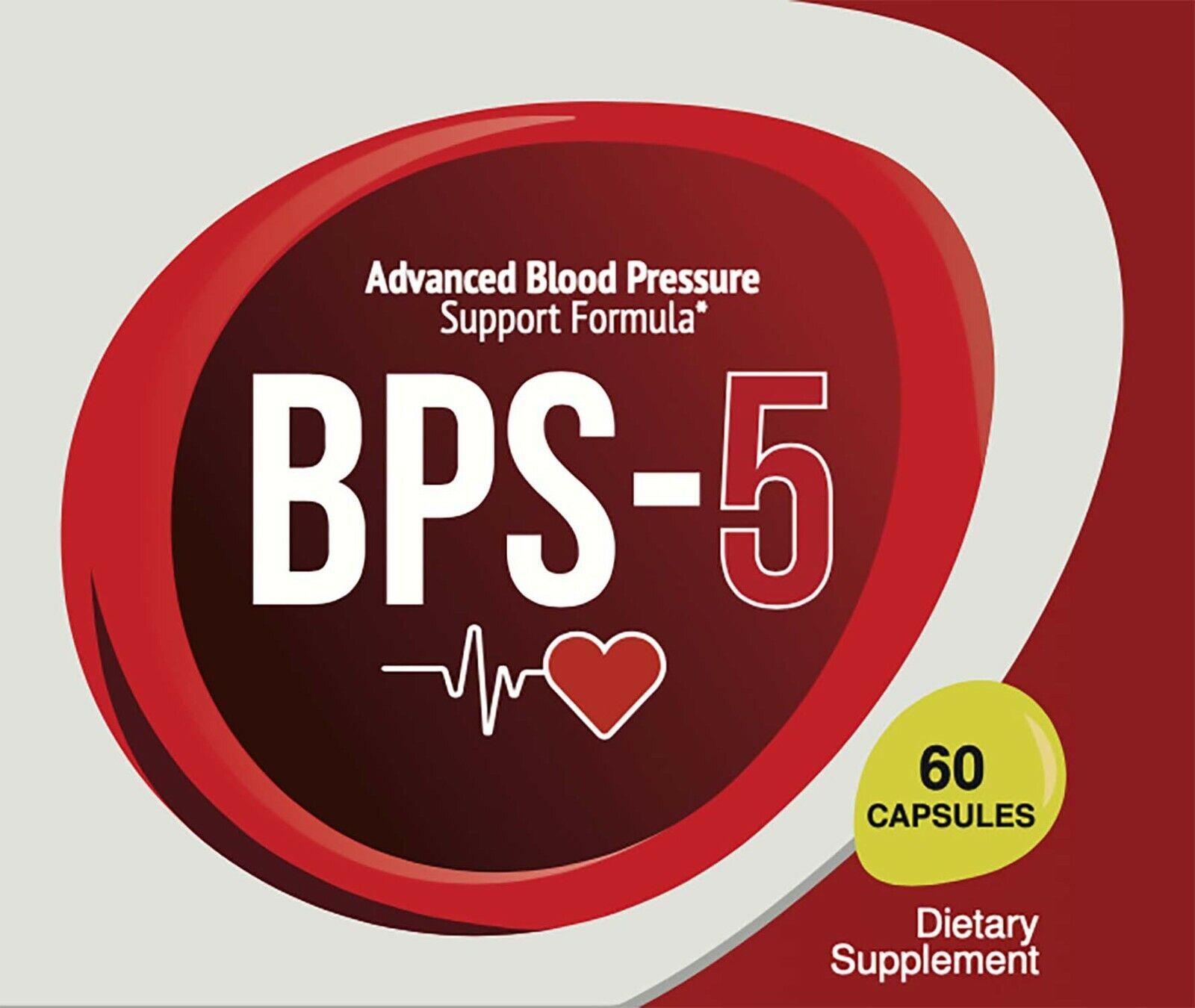 BPS 5 Advanced Blood Pressure Support Formula 60 Capsules