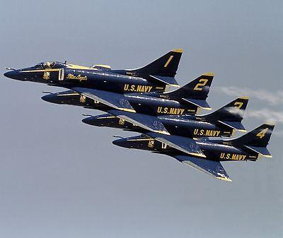 US NAVY A-4F SKYHAWK  8X10 PHOTO BLUE ANGELS 4 JULY 1984 PLANE AIRCRAFT