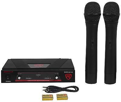 Rockville RWM1201VH VHF Wireless Dual HandHeld Microphone Mic System - $34.95