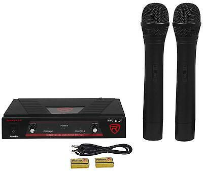 Купить Rockville RWM1201VH VHF Wireless Dual HandHeld Microphone Mic System