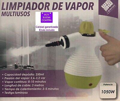 Limpiador vapor multiusos 1050W Depósito 250ml Vapor continuo Testigo luminoso