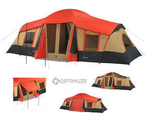 Ozark Trail 3 Room Cabin Tent 10 Person 20'x11' Large Camping Hunting Outdoor
