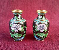 Cloisonne' Coppia Vasi Cinesi Originali H. 10,5 Cm -  - ebay.it