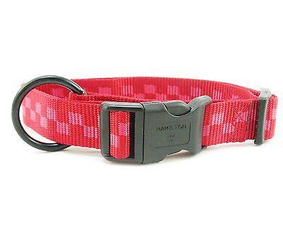 "HAMILTON ""Fits All"" Adjustable Nylon Dog Collar, Large (1"" x 18""-26""), Red Check"