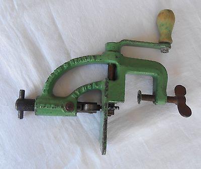 Antique Pinking Machine Sewing Tailor Hearne Applique Ruzak Cast Iron