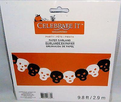 CELEBRATE-IT  Halloween Paper Garland  GHOST'S  9.8 Ft - Celebrate It Halloween Garland