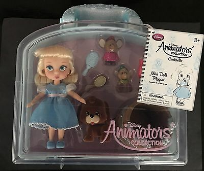 Disney Animators' Collection Mini Doll Play Set Cinderella NEW!
