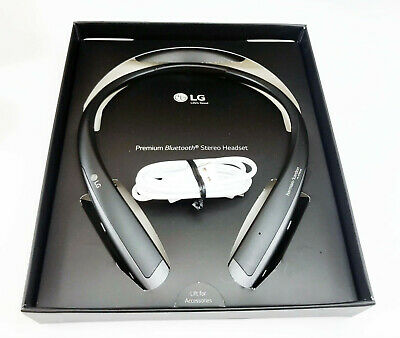 LG Tone Platinum+ Plus Black Neckband Headset Bluetooth HBS1125 Neck Headphones