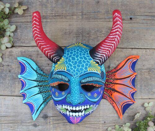 Sea Monster Mask Horns Papier-Mâché Hand Painted Guanajuato Mexican Folk Art