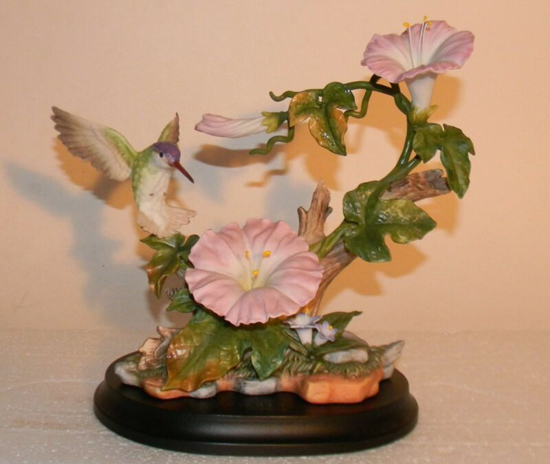 BOEHM At Home 14702-04 Hummingbird with Morning Glory Bird Porcelain Figurine