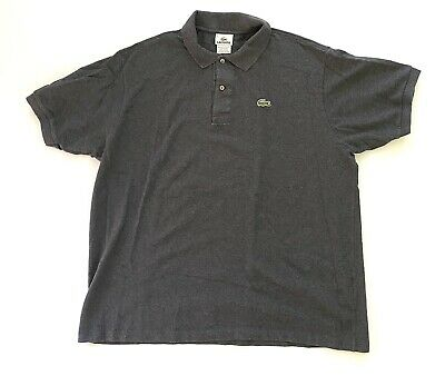 Lacoste Charcoal Gray Short Sleeve Golf Polo Alligator Shirt Mens Size 7 XXL 2XL