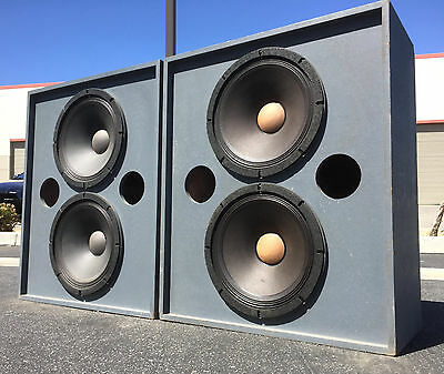 Vintage Altec Lansing A8 VOTT Plywood Theater Speakers w/ 3156 (x4) Clean Pair