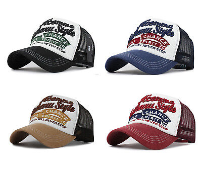 Trucker Basecap Mütze Unisex Must-Have Vintage Baseball Cap Hut Netz Mesh Hat Vintage Vintage Trucker Hut
