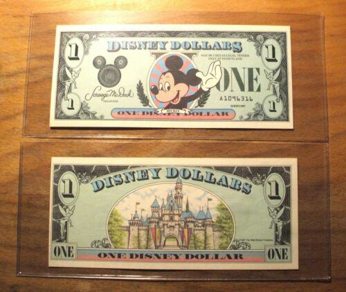 """1987 DISNEY DOLLAR - Mint Condition - $1. - Mickey - SERIES """"A"""" - First Issue"""